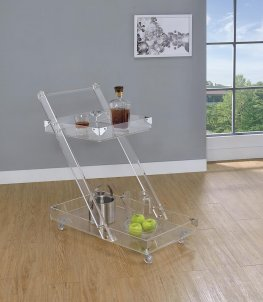 Modern Clear Acrylic Serving Cart