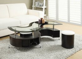 Delange Motion White Coffee Table