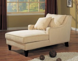 Beige Chaise Lounger