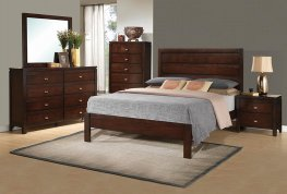 Cameron Transitional Rich Brown Queen Bed