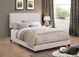 Boyd Upholstered Ivory Cal. King Bed