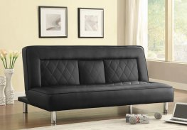 Black Sofa Bed with Drop Console