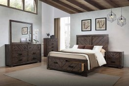 Lawndale Rustic Weathered Grey Cal. King Bed