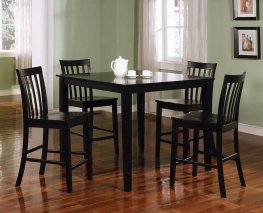 Transitional Black 5-Pc. Dining Set