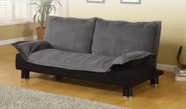 Contemporary Dark Grey and Black Sofa Bed