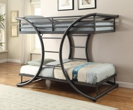 Stephan Gunmetal Twin-over-Twin Bunk Bed