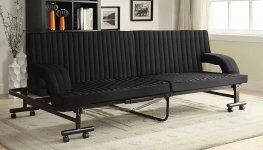 Contemporary Black Folding Sofa Bed