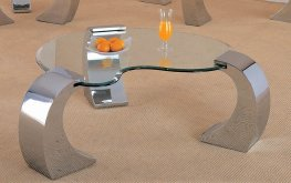 Romanus Contemporary Silver Coffee Table