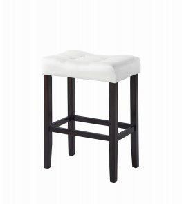 Casual White Upholstered Bar Stool