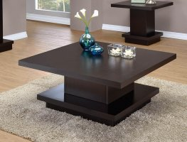 Capp. Wood Top Coffee Table