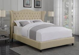 Coronado Beige Upholstered Full Bed