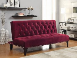 Burgundy Velvet Sofa Bed
