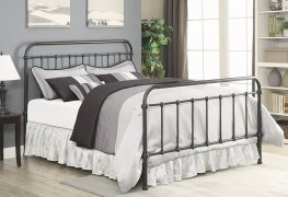 Livingston Dark Bronze Queen Bed