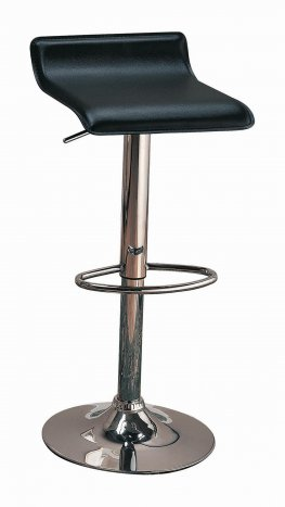 120390 - Contemporary Black Adjustable Bar Stool