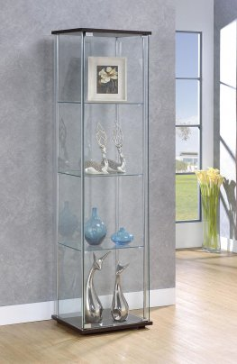 Capp. Curio Cabinet with Four Shelves