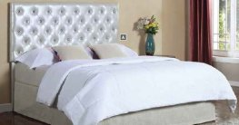 Carlo Silver Upholstered Twin LED Headboard