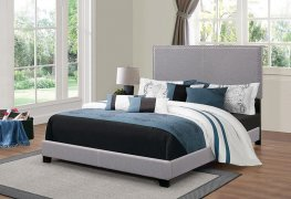 Boyd Upholstered Grey Full Bed