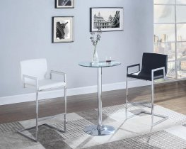 104875 - Contemporary White Bar Stool