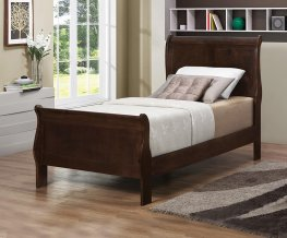 Louis Philippe Capp. Twin Sleigh Bed