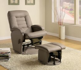 Casual Reclining Glider & Ottoman