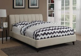 Portola Oatmeal Upholstered Cal. King Bed