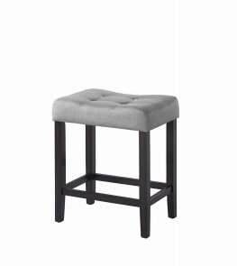 Casual Grey Upholstered Counter-Height Stool