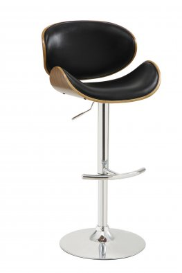 130504 - Contemporary Black Adjustable Height Bar Stool