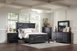 Traditional Rustic Latte Queen Bed