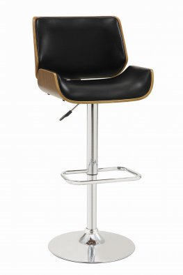 130502 - Contemporary Black Adjustable Height Bar Stool