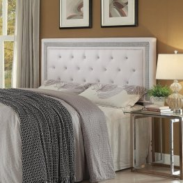 Andenne White Upholstered Queen Headboard