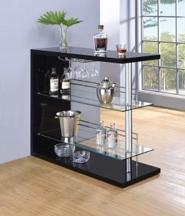 100165 - Contemporary Black Bar Unit