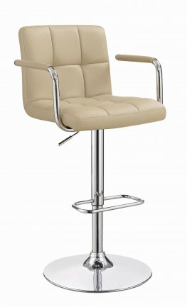 121106 - Contemporary Beige Adjustable Bar Stool