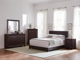 Dorian Brown Faux Leather Full Bed