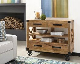 Rustic Natural Mango Accent Cabinet