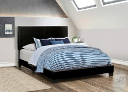 Dorian Black Faux Leather Cal. King Bed