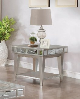 Bling Mirrored End Table