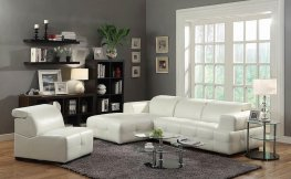 Darby Contemporary White Sectional
