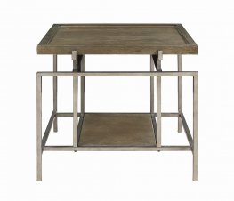 Contemporary Grey Metal End Table