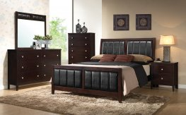 Carlton Transitional Capp. E. King Bed