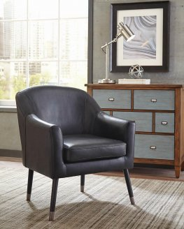 Mid-Century Modern Black Accent Chair