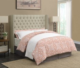 Benicia Beige Upholstered Full Headboard