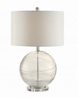 Contemporary Clear Round Table Lamp