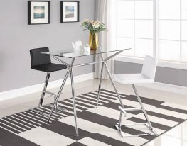 104878 - Contemporary Black Bar Stool