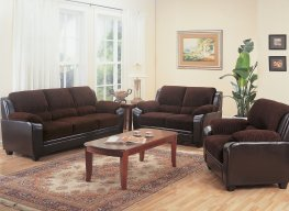 Monika Transitional Chocolate Sofa & Love