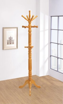 Traditional Honey Twisted Post Coat Rack