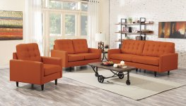 Kesson Mid-Century Modern Burnt Orange 3-Pc.