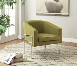 Contemporary Green Accent Chair