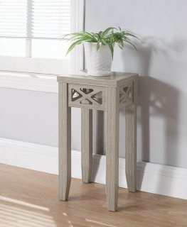Traditional Dark Taupe Accent Table