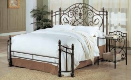 Violet Antique Bronze Metal E. King Bed