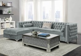 Bellaire Silver and Chrome Sectional